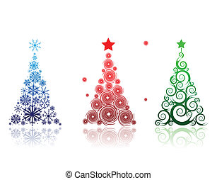 schöne , design, baum, dein, weihnachten