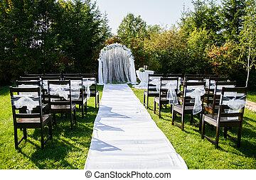 Zeremonie Draussen Wedding Schone Zeremonie Stallknecht Braut