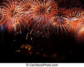 schöne , firework, finale, großartig