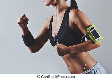 schöne , fitness, frau