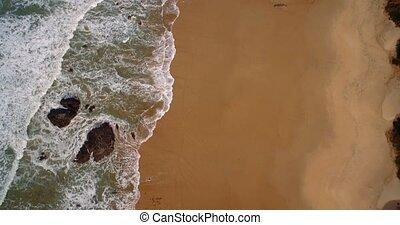 schöne, flug,  portugal,  de, Luftaufnahmen,  senhora,  praia,  nossa, entlang
