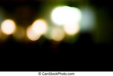 schöne, Fokus, Lichter, dunkel, hintergrund, während, Nacht, heraus