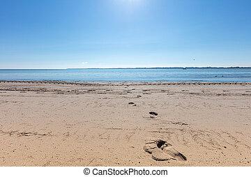 schöne , foto, wetter, sandstrand