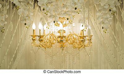 schöne , goldenes, beleuchtung, weihnachtslicht, in, tokyo, japan., licht, reflektieren, in, nakameguro, kanal