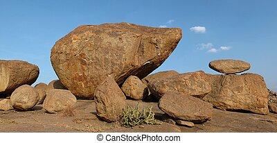 schöne , granit, ausgleichen, felsblock