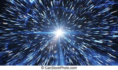 schöne , großer knall, universum, creation., riesig, zuerst, explosion, und, explosion, wave., schöpfung, von, sternen, und, galaxien, in, space., hd, 1080.