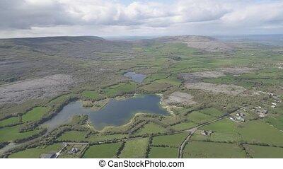 schöne, irisch, Luftaufnahmen, Natur, Landschaft, national,...