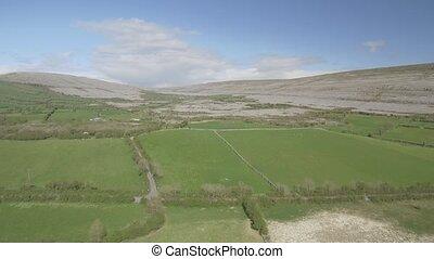 schöne, irisch, Luftaufnahmen, Natur, Landschaft,  national,  Park, grafschaft,  clare, irland, episch,  Burren, landschaftsbild, Ansicht