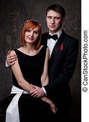 schöne , junger, ehepaar.