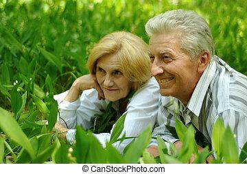 schöne , kaukasier, ältere paare
