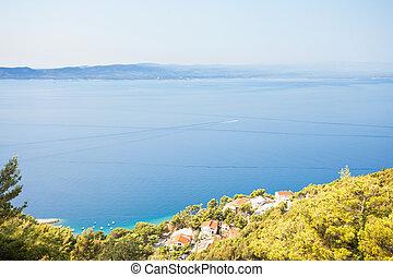 schöne , -, kroatien, kuesten, brela, dorf, dalmatien,...