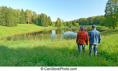 schöne , landschaftsbild, in, nature.