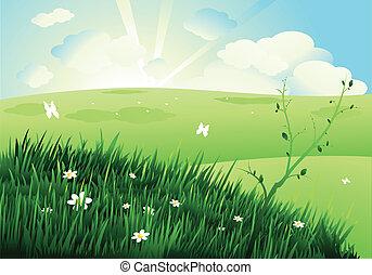 schöne , landschaftsbild, natur