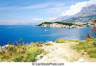 schöne , makarska, riviera, kueste, adria, kroatien, meer, dalmatien