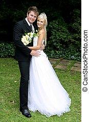 schöne , paar, wedding