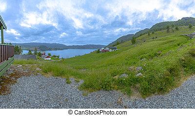 schöne , panorama, szenerie, norwegen