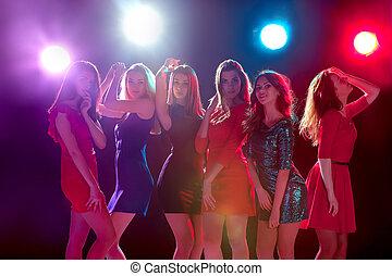schöne , party, mädels, tanzen