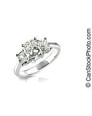 schöne , platin, diamant, mehrfach, gold, innerhalb, oder, ...