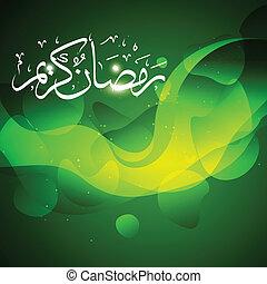 schöne , ramadan, kareem, vektor