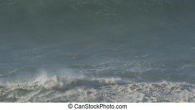 schöne, Riesig,  material,  -, wasserlandschaft, atlantisch, Wellen, gebürtig