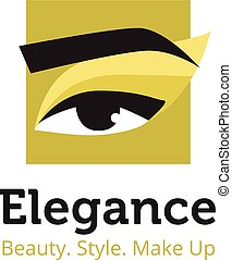 schöne , salon, gold, schoenheit, logo, einholen, vektor, studio, colors., minimalistic, spa, logo., template., schwarz