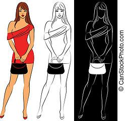 schöne , shoppen, mode, mädels