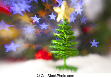 schöne , spielzeug, von, der, weihnachtsbaum, auf, abstrakt, hintergrund