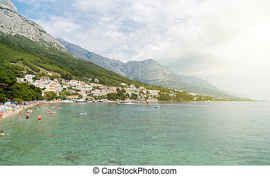 schöne , stadt, brela, kueste, cluburlaub, croatia.
