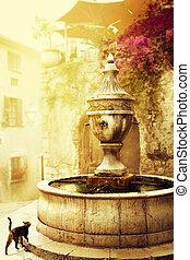 schöne , stadt, kunst, altes , provence