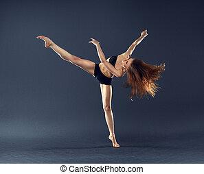 schöne , tänzer, tanzen, tanz, ballett, zeitgenössisch, stil