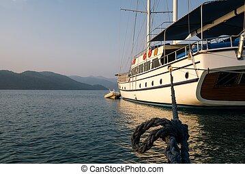 schöne , türkei, yacht, ansicht