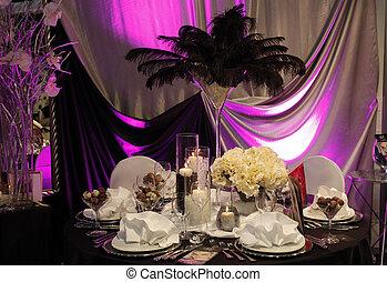schöne , tisch, satz, für, wedding