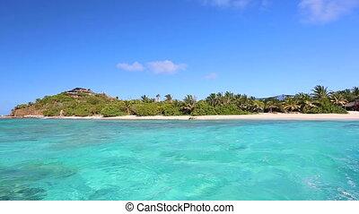 schöne , tropische , meer, karibisch