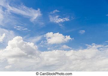schöne , von, wolkenhimmel, in, der, blauer himmel