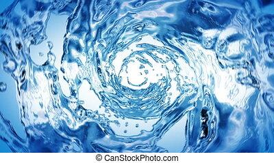 schöne , wasser, blaues, farbe, strudel