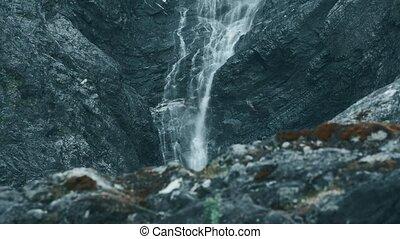schöne , wasserfall, in, norwegen