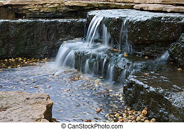 schöne , waterfall., kaskadierung