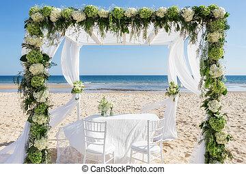 schöne , wedding, bogen, strand