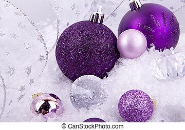 Weihnachtsdeko Lila Silber.Schöne Lila Schnee Weihnachtsdeko Weißes Silber Schöne Lila