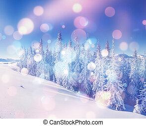 schöne , winterlich, landschaftsbild