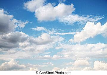 schöne , wolkengebilde