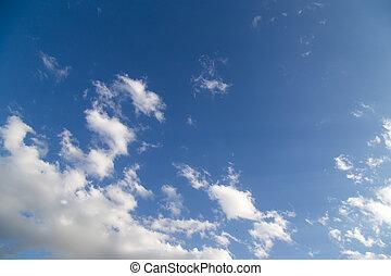 schöne , wolkenhimmel, in, der, blauer himmel