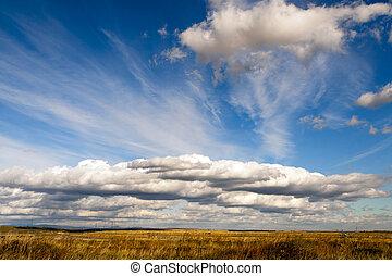 schöne , wolkenhimmel, in, der, blaues, sky.