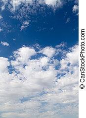 schöne , wolkenhimmel, in, der, himmelsgewölbe