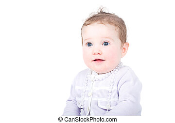 baby perle halskette tragen rosa baby weinlese junger bild suche foto clipart. Black Bedroom Furniture Sets. Home Design Ideas