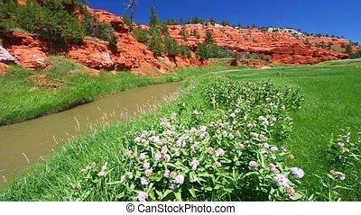 Schönheit,  Wyoming,  -, Fluß,  fourche