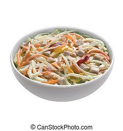 schüssel, capricciosa, salat