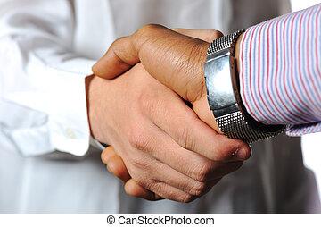 schüttelnde hand