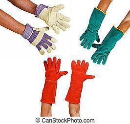 schützende handschuhe