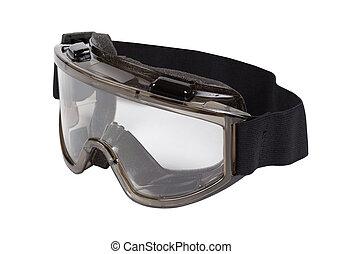 schützende schutzbrille, auge, eyeprotective